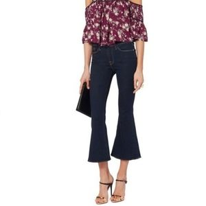 Frame Le Bell Flare High Rise Jeans Dark Wash 25